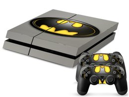 Cool Batman PS4 Skin Stickers Protector For Sony PlayStation 4 Console and 2 PCS Vinyl Skin Stickers of PS4 Controllers