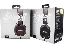Wholesale Marshall Major MK II Black Headphones New Generation Headset Remote Mic nd pk MARSHALL MONITOR AAA quality