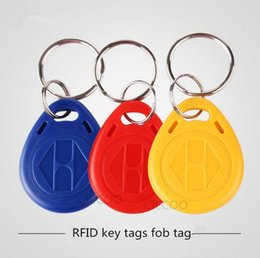 Wholesale 50PCS KHZ rfid card TK4100 chip keytag hotel door access control card reader keytag