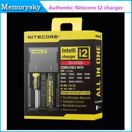 Original Nitecore I2 Universal Charger fit 18350 18650 14500 26650 E Cigarette mods Battery 2 in 1 Multi Function Intellicharger