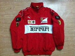 Wholesale 9 Colors Embroidery LOGO F1 FIA NASCAR IndyCar V8 Supercar Racing Cotton Jacket F1 Racing Team Jacket
