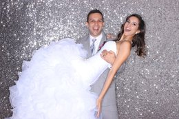 Wholesale Halloween Backdrop Outdoor Wedding Backdrops Photography Backdrops Children Silver Photo Booth Backdrop Sparkle ftX6 ft