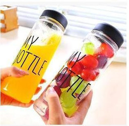 2015 My bottle Water 500ml Sport Style Portable Plastic Fruit Juice Water Tour Outdoor Cup Bottle by Fedex DHL and so on