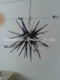 Wholesale Starfish Bedroom - C38-Starfish Design Hand Blown Glass Chandelier Lighting Small and Cheap Crystal Art Design LED Chandelier Modern Ceiling Lamps