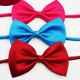 2016 Children's bow tie 19 colors Baby bowknot with OPP Bags Tie for boy girl neckties Christmas Gift Free FedEx TNT