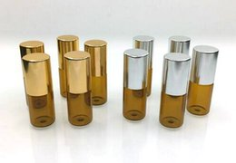 3ml Essential Oils Glass Roller Bottles, Refillable Roll-on Bottles with Stainless Steel Roller Balls 500Pcs lot By DHL Free Shipping