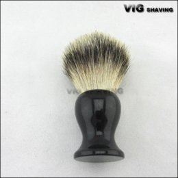 Wholesale 24mm dia knot Resin black Handle best badger hair shaving Brush hair brush stand brush generator