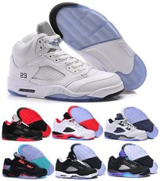 Wholesale cheap new Brand Air Retro V Basketball Shoes Sneakers Retro Mens Authentic J5 J Sports Homme Zapatos Real Replicas