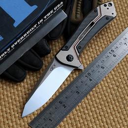 Zero Tolerance Rexford design ZT 0801CF ball bearing Folding Knife D2 Titanium Carbon Fiber Camping Hunting Survival Knives Outdoor EDC Tool