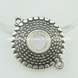 16772 12PCS Alloy Antique Silver Vintage Round Connector Fit 5mm Rhinestone