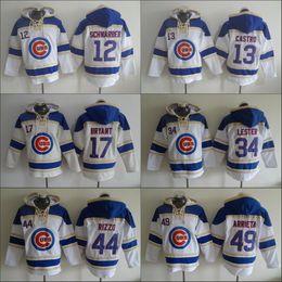 Wholesale 2016 World Series patch Chicago Cubs Hoodie Rizzo Jersey Kris Bryant Jon Lester Jake Arrieta Baseball Pullover Hooded Sweatshirt