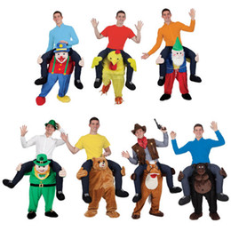 Wholesale Funny Carry Me Fancy Dress Up Party Mascot Halloween Costume One Size Fits Most