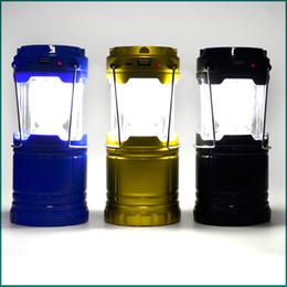 Wholesale Super Bright Solar energy Portable Camping Lantern Outdoor Light Hiking Camping Hangable Flashlight Camping Lanter DHL