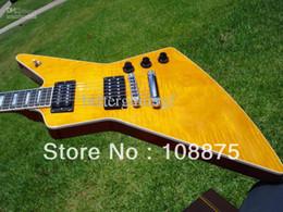 Guitare électrique Pro-Amber Flametop Ebony Electric Guitar100% Guitare électrique de qualité supérieure à partir de ébène pro fabricateur