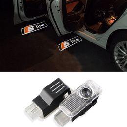 Wholesale Car Door LED Logo Projector Ghost Shadow Lights For Audi Sline A3 A4 A5 A6 A7 A8 s4 s5 s6 s7