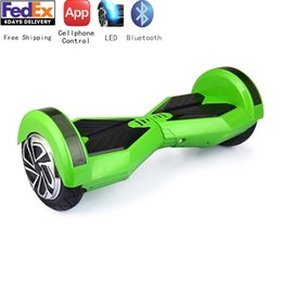 Global Unique APP Controlled 8inch 2Wheels Electric Hoverboard Self-balancing Scooter Bluetooth Free Shipping