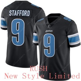 Wholesale Good quality Cheap Newest Limited Rush Lions Matthew Stafford Stitched Embroidery Logos Men s America Football Authentic Jerseys