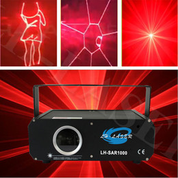 1000mw Single red Color Voice-Control Laser Pointer Disco DJ Light Xmas Party Stage Lighting Partterns Projector