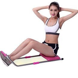 Wholesale 2016 New Design Mini Portable Sit Up Bench Healthy Abdominal Supine Board Home Office Fitness Equipment Easy Assemble