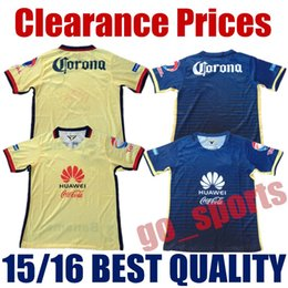 Wholesale 15 Club America Home Yellow Away Blue Soccer Jerseys Best Quality D BENEDETTO R SAMBUEZA P AGUILAR MICKY O MARTINEZ Soccer Jersey