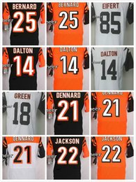 Wholesale Bengals Blank Andy Dalton Darqueze Dennard William Jackson Black Orange White Elite Football Stitched Jerseys Mix Order