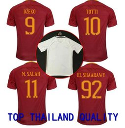Wholesale New ROMA soccer Jersey TOTTI HOME away NAINGGOLAN DZEKO DE ROSSI PJANIC thai quality roma football shirt soccer jersey