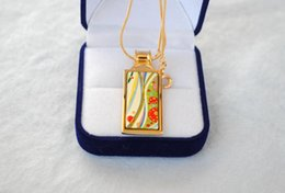 Flower of Love series 18K gold-plated enamel necklaces for woman designer jewelry Top rectangular pendant necklace free shipping collier