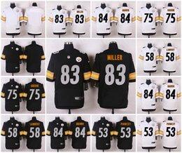 Wholesale Elite Stitched Pittsburgh Maurkice Pouncey Jack Lambert Joe Greene Miller Antonio Brown Steelers Custom Jersey