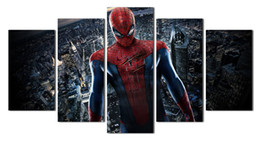Wholesale UnFramed Printed pieces black and colored spiderman Painting room decoration print poster picture canvas No Frame
