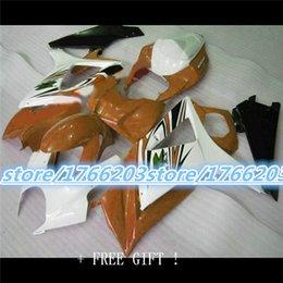 Motos sportives carénage en Ligne-Hot GSX des ventes - R1000 K7 07, 08 GSX R1000 kit carénage K7 07-08 blanc orange et le sport moto noir moto pas cher