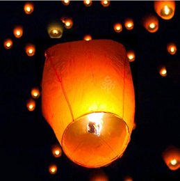 Wholesale Hot sell FIRE SKY CHINESE LANTERNS BIRTHDAY WEDDING PARTY UFO WISH GOOD LUCKY SMART LANTERNS