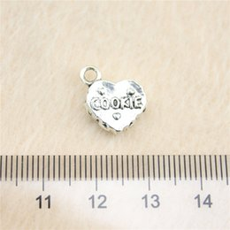 Wholesale 20Pcs mm antique Silver Tone3d cookie Charms Zinc Alloy DIY Handmade Jewelry Pendants