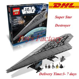 Wholesale New LEPIN Star Wars Execytor Super Star Destroyer Model Building Kit Minifigure Block Brick Toy Gift Compatible