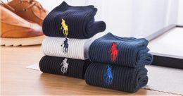 New 2016 Pure Color Mens Polo Dress Socks, High Quality Cotton Casual Fashion Designer Brand Pantufa Black In Tube hombre
