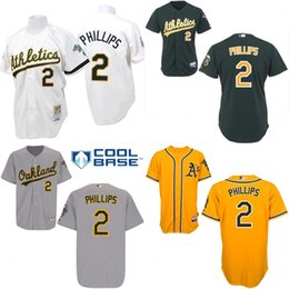 Wholesale White green grey yellow Throwback Tony Phillips Jersey Men s Mitchell And Ness MLB Oakland Athletics