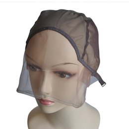 Lace Front Wig Base for Making Wigs with Adjustable Strap Half Machine Made Half Hand Made Hairnet