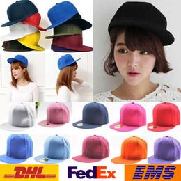 Descuento sombreros de béisbol en blanco snapback DHL 14 en blanco del estilo llano de béisbol del Snapback unisex Hombres Mujeres Hip-Hop bboy ajustable bola del baloncesto gorra de Protección Solar Sombrero WX-H29