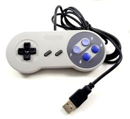 Wholesale New Retro Classic USB Controller PC gamepad Joystick Replacement for SNES Windows MAC With Box Packing Factory Price and DHL