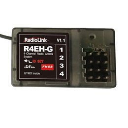 Wholesale Radiolink R4EH G Gyro Integrated Receiver G Channel with Anti interference ms Response Speed for Radiolink TX RC3S RC4G