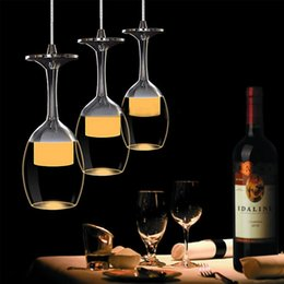 Wholesale Three simple restaurant meals chandeliers lamp glass creative personality lighting V export acrylic LED lampsBar lamp Stainless steel