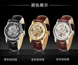 Genuine super deluxe hollow engraving automatic double-sided hollow automatic mechanical watch for men watches business