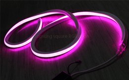 hot sale 50M spool square SMD LED neon rope lights flexible strips red yellow blue green white pink rgb 12V24V 220V