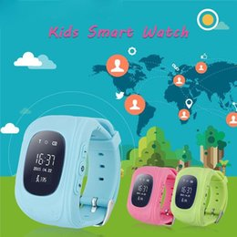 Wholesale 2016 Q50 Kids Smart Watch GPS LBS Double Location Safe Children Watch Activity Tracker SOS Card for Android and IOS best watch