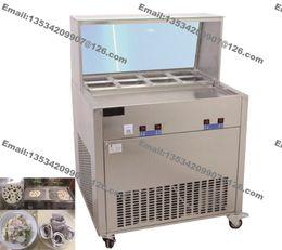 Wholesale Stainless Steel v v Electric Yogurt Fry Ice Pan Maker Fried Ice Cream Machine Ice Cream Roll Making Machine