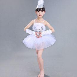 White Swan Lake Dance Dress Classical Professional Ballet Tutu Dancewear Girls Stage Performance Costumes Ballet Dress UA0181 smileseller