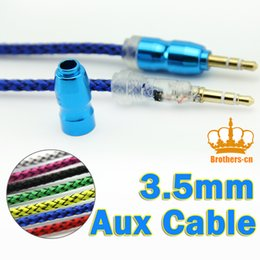 Wholesale 3 mm Aux Audio Auxiliary AV Male to Male Plug stereo Extension Stereo Cord audio cable for iphone Mp3 Players Mobile
