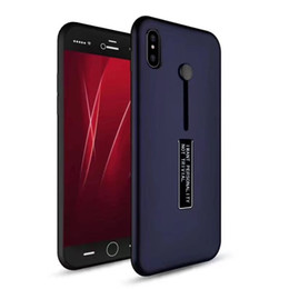 Shockproof Hybrid Armor Shell Case Letter Matte Hard Back Cover Phone Cases For iPhone X with Kickstand Ring