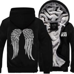 Wholesale The Walking Dead Hoodie Warm Winter Fleece Zip Up Clothing Coat Sweatshirts Clothes