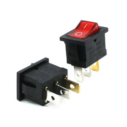 Wholesale Rocker Switches Terminal ON OFF SPST Square Shape A V A V AC Red Green Yellow Light Indicator for Electric Auto Boat Car