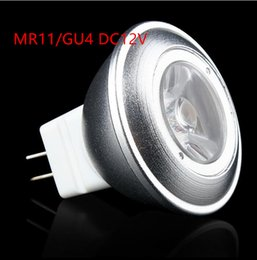 2017 gu4 conduit 2016 NOUVEAU ARRIVE MR11 5W LED Spot Light DC12V Dimmable ampoules LED GU4 MR11 blanc chaud cool 10pcs Blanc / lot Livraison gratuite gu4 conduit ventes